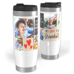 Thumbnail for Premium Tumbler Photo Travel Mug, 14oz with We Love You Grandad design 1