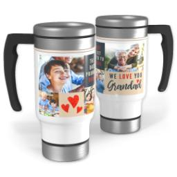 Thumbnail for Stainless Steel Photo Travel Mug, 14oz with We Love You Grandad design 1