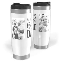 Thumbnail for Premium Tumbler Photo Travel Mug, 14oz with World's Best Dad design 1
