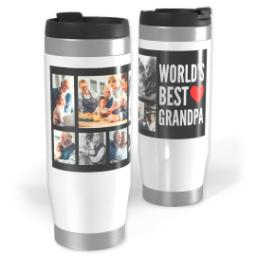 Thumbnail for Premium Tumbler Photo Travel Mug, 14oz with World's Best Grandpa design 1
