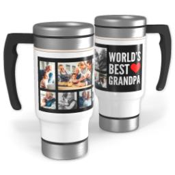 Thumbnail for Stainless Steel Photo Travel Mug, 14oz with World's Best Grandpa design 1