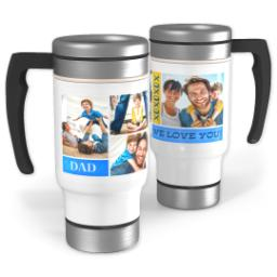 Thumbnail for Stainless Steel Photo Travel Mug, 14oz with XO Dad design 1
