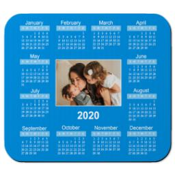 Thumbnail for Ultra Thin Rectangle Mouse Pad with 2020 Calendar design 1