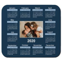 Thumbnail for Ultra Thin Rectangle Mouse Pad with 2020 Calendar design 2