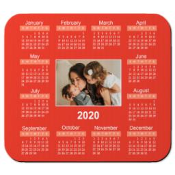 Thumbnail for Ultra Thin Rectangle Mouse Pad with 2020 Calendar design 3
