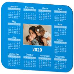 Thumbnail for Ultra Thin Rectangle Mouse Pad with 2020 Calendar design 4