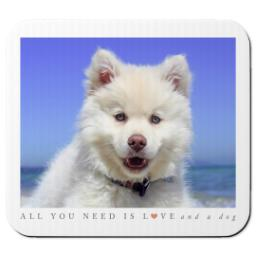 Thumbnail for Ultra Thin Rectangle Mouse Pad with Puppy Love design 1