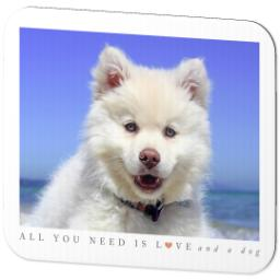 Thumbnail for Ultra Thin Rectangle Mouse Pad with Puppy Love design 2
