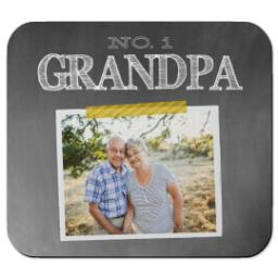 Thumbnail for Ultra Thin Rectangle Mouse Pad with Chalkboard Grandpa design 1