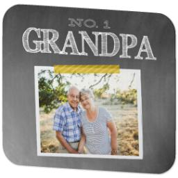 Thumbnail for Ultra Thin Rectangle Mouse Pad with Chalkboard Grandpa design 2