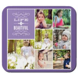 Thumbnail for Ultra Thin Rectangle Mouse Pad with Life Is Beautiful design 1