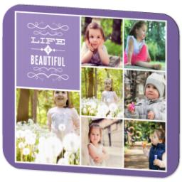 Thumbnail for Ultra Thin Rectangle Mouse Pad with Life Is Beautiful design 2