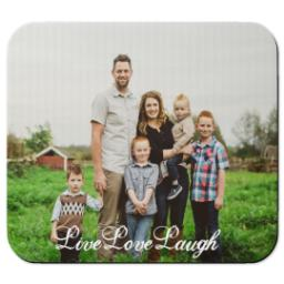 Thumbnail for Mouse Pad with Live Love Laugh design 1