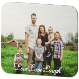 Thumbnail for Mouse Pad with Live Love Laugh design 2