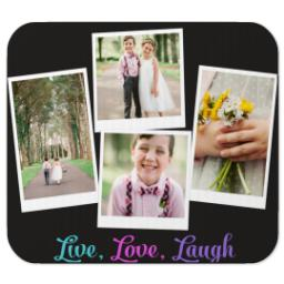 Thumbnail for Mouse Pad with Live Love Laugh Brights design 1