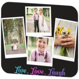 Thumbnail for Mouse Pad with Live Love Laugh Brights design 2