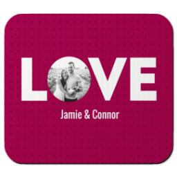 Thumbnail for Ultra Thin Rectangle Mouse Pad with Love Cutout design 1