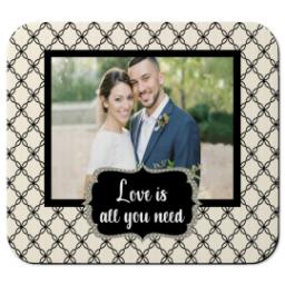 Thumbnail for Ultra Thin Rectangle Mouse Pad with Love Is All You Need design 1