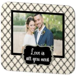 Thumbnail for Ultra Thin Rectangle Mouse Pad with Love Is All You Need design 2