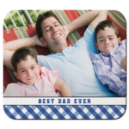 Thumbnail for Ultra Thin Rectangle Mouse Pad with Classic Best Dad design 1