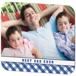 Thumbnail for Ultra Thin Rectangle Mouse Pad with Classic Best Dad design 2