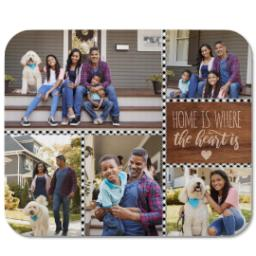 Thumbnail for Mouse Pad with Heart and Home design 1