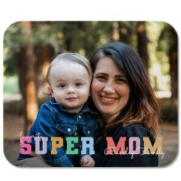 Thumbnail for Mouse Pad with Pastel Super Mom design 1