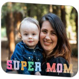 Thumbnail for Ultra Thin Rectangle Mouse Pad with Pastel Super Mom design 2