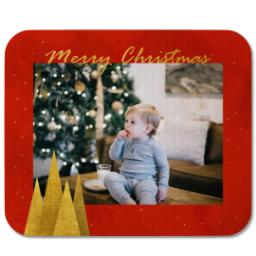 Thumbnail for Mouse Pad with Sparkling Gold Christmas design 1