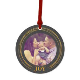 Thumbnail for Ceramic Disc Photo Ornament with Golden Joy design 1