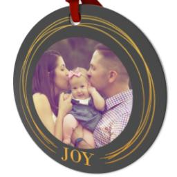 Thumbnail for Ceramic Disc Photo Ornament with Golden Joy design 2