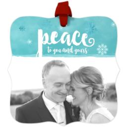 Thumbnail for Fancy Bracket Metal Ornament with Peace design 1