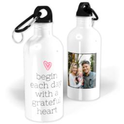 Thumbnail for Photo Water Bottle, 20oz with A Grateful Heart design 1