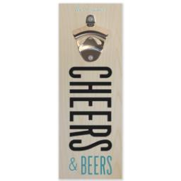 Thumbnail for Wall Mounted Bottle Opener with Cheers For Beer design 1