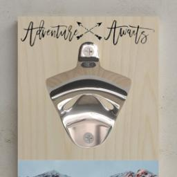 Thumbnail for Wall Mounted Bottle Opener with High Adventure design 2