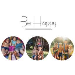 Thumbnail for Photo Water Bottle, 20oz with Be Happy Collage design 2