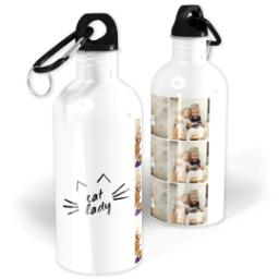 Thumbnail for Photo Water Bottle, 20oz with Cat Lady Collage design 1