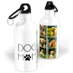 Thumbnail for Photo Water Bottle, 20oz with Dog Mom design 1