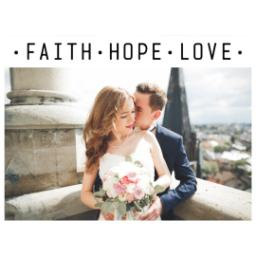 Thumbnail for Photo Water Bottle, 20oz with Faith Hope Love Remains design 2