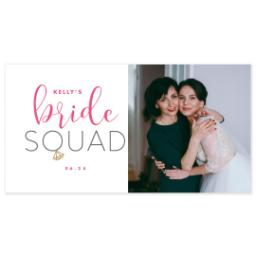 Thumbnail for Pint Glass with Bride Squad design 3