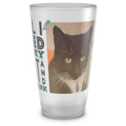 Thumbnail for Pint Glass with My Cat And Drink design 1