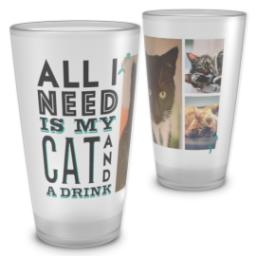 Thumbnail for Pint Glass with My Cat And Drink design 2