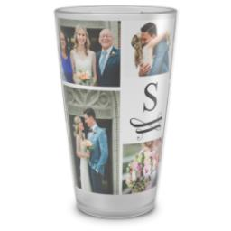 Thumbnail for Pint Glass with Swirled Monogram design 1