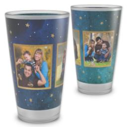 Thumbnail for Pint Glass with Watercolor Stars design 2