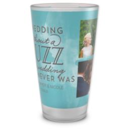 Thumbnail for Pint Glass with Wedding Buzz design 1