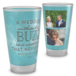 Thumbnail for Pint Glass with Wedding Buzz design 2