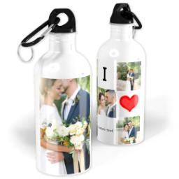 Thumbnail for Photo Water Bottle, 20oz with I Heart Collage design 1