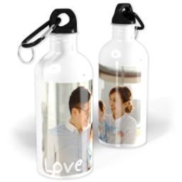 Thumbnail for Photo Water Bottle, 20oz with Love design 1