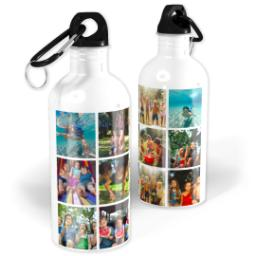 Thumbnail for Photo Water Bottle, 20oz with Square Collage For Twelve design 1