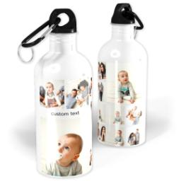 Thumbnail for Photo Water Bottle, 20oz with Square Mix Collage For Twelve design 1